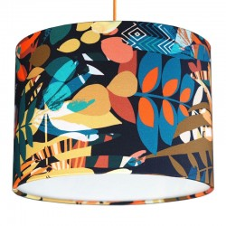 Kitty McCall Hothouse Autumnal Copper Lampshade - Red Candy