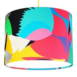 Kitty McCall Tropicalia Drum Lampshade - Red Candy