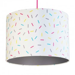 Multi-Colour Sprinkles Lampshade (Grey) - Red Candy