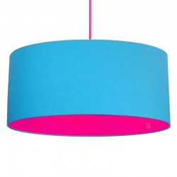 Neon Lined Lampshade (Light Blue & Pink) - Red Candy