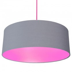 XL Drum Lampshade (Grey & Pink) - Red Candy