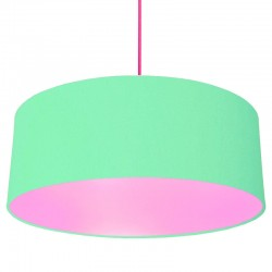 XL Drum Lampshade (Mint & Powder Pink) - Red Candy