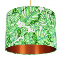 Tropical Monstera Lampshade (Copper) - Red Candy
