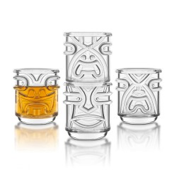 Tiki Tumblers (Set of 4) - Red Candy