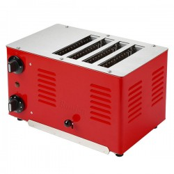 Regent Toaster - Traffic Red - retro red 4 slot toaster