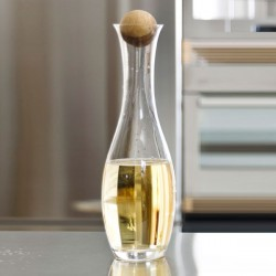 Sagaform Water Carafe with Oak Stopper - Red Candy