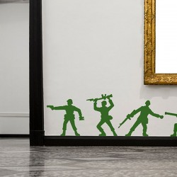 Army Men Wall Stickers - Red Candy