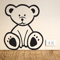 Bear Wall Sticker - teddy bear wall decor