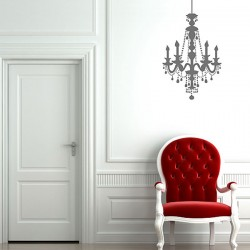 Chandelier Wall Sticker - Red Candy