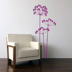 Cow Parsley Wall Sticker - Red Candy
