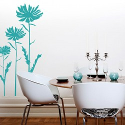 Gerberas Wall Sticker - large funky flowers wall dcor