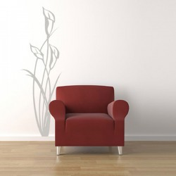 Lilies Wall Sticker - Red Candy