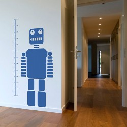 Robot Height Chart Wall Sticker - children's height chart