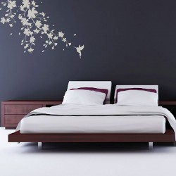 Sakura Blossom Wall Sticker (Large) - Red Candy
