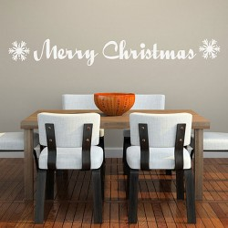 Merry Christmas Wall Sticker - Christmas wall decorations