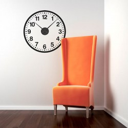 School Clock Wall Sticker - Red Candy