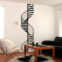 Spiral Staircase Wall Sticker - large spiral staircase wall decor