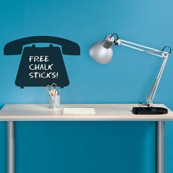 Telephone Chalkboard Wall Sticker - Red Candy