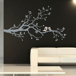 Birds & Blossom Wall Sticker - Red Candy