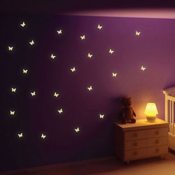 Glow in the Dark Butterfly Wall Stickers - Red Candy