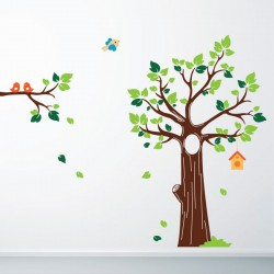 Jungle Tree Wall Sticker - Red Candy