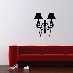 Wall Lamp Wall Sticker - Red Candy