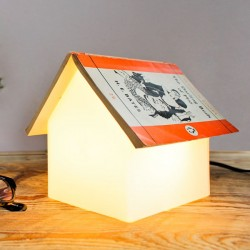 Suck UK Book Rest Lamp - house-shaped book stand light