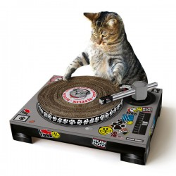 Suck UK Cat Scratching DJ Deck - cardboard turntable cat toy