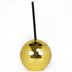 Disco Ball Cup - Gold - novelty drinking cup - Temerity Jones