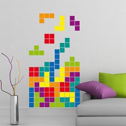 Tetris Wall Sticker - Red Candy