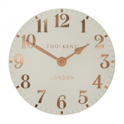 Thomas Kent Arabic Clock (12 Inch, Flint Grey) - Red Candy