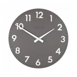 Thomas Kent Camden Clock Slate - 12 inch dark grey wall clock