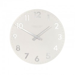 Thomas Kent Camden Clock Snowberry White - 12 Inch