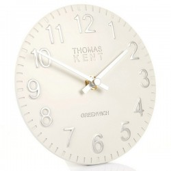 Thomas Kent Cotswold Snowberry White Mantel Clock - 6 Inch - white desk clock