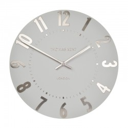 Thomas Kent Mulberry Clock Silver Cloud - 12 Inch wall clock