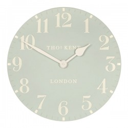 Thomas Kent Arabic Clock (12 Inch Duck Egg) - Red Candy