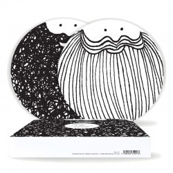 Bernard & Samuel Plate Set - Quirky Beard Plates