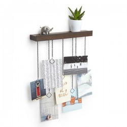 Umbra Cascade Photo Display - walnut photo frame and shelf