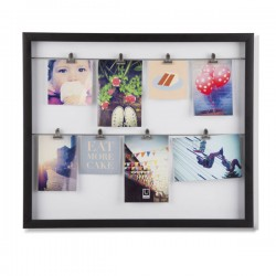 Umbra Clipline Photo Display - modern black multi picture frame