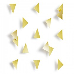 Umbra Confetti Triangles Wall Decor - Brass - geometric wall art