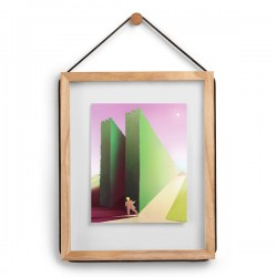 Umbra Corda Photo Frame - Natural - wooden wall photo display