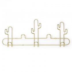 Umbra Desert Cactus Wall Hook - brass characterful coat rack