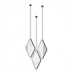 Umbra Dima Mirror Set - Black - trio of diamond hanging mirrors
