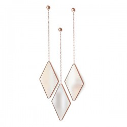 Umbra Dima Mirror Set - Copper - 3 hanging diamond shape mirrors