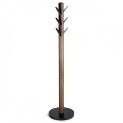 Umbra Flapper Coat Rack - Walnut - wooden coat stand