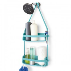 Umbra Flex Shower Caddy - Surf Blue - bathroom storage