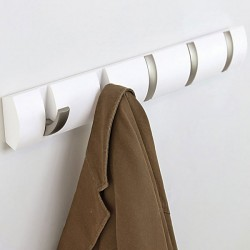 Umbra Flip Hook - white coat hook for 5 coats