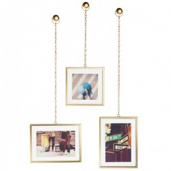 Umbra Fotochain Photo Display - brass hanging photo frames