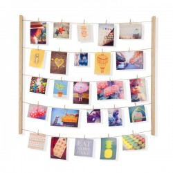 Umbra Hangit Photo Display (Natural) - Red Candy