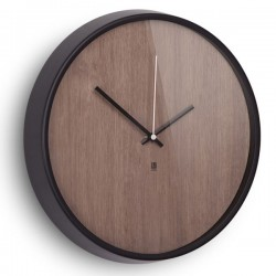 Umbra Madera Wall Clock - wood veneer brown designer clock